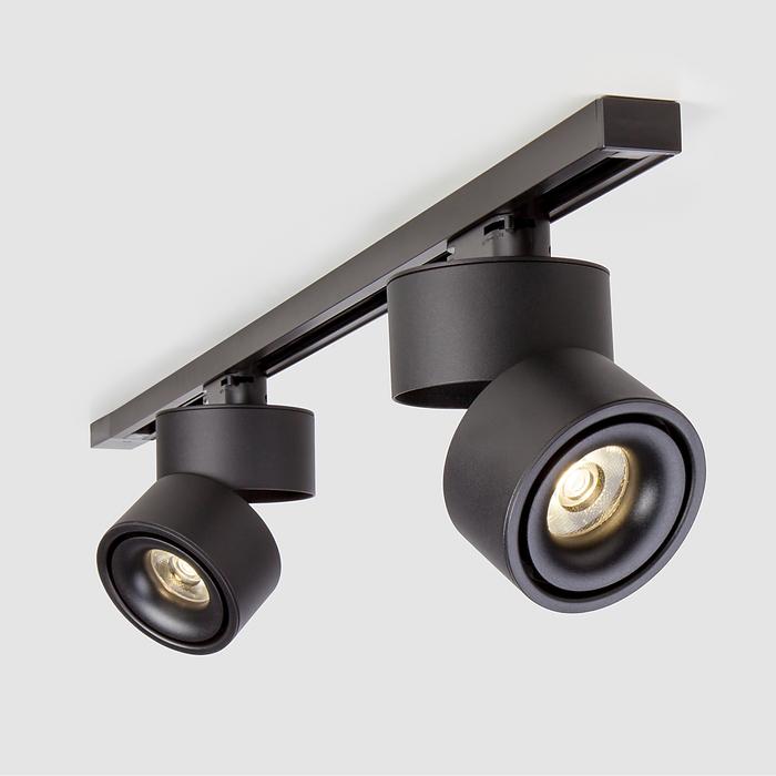 трековый светильник черный