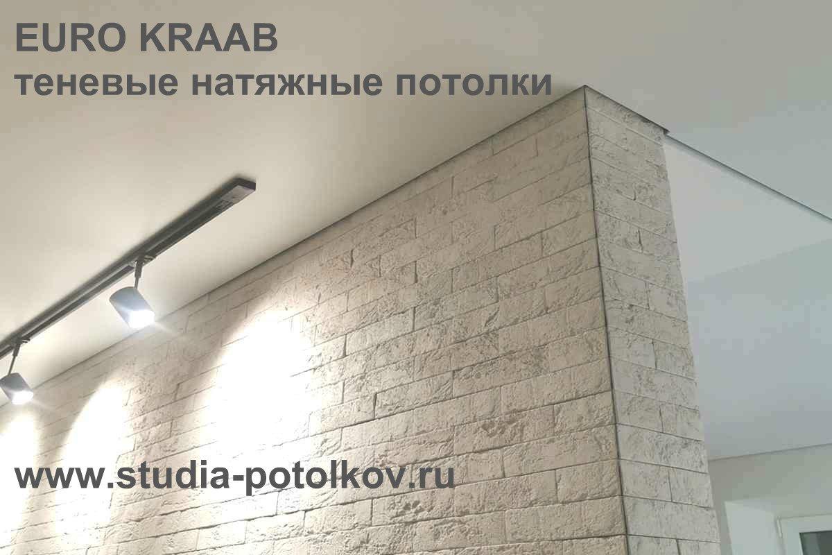 теневой натяжной потолок